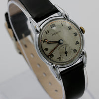WWII Marvin Swiss Made Silver Watch w/ Strap