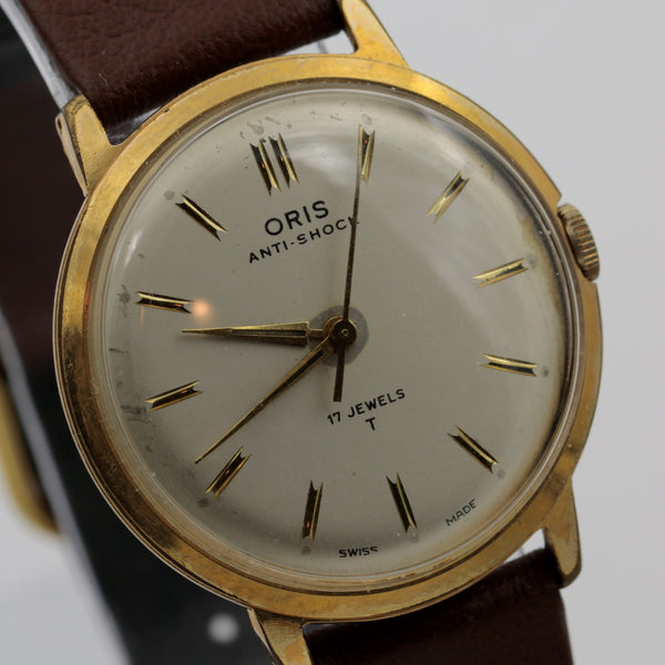 1960s Oris Men's Swiss Made 17Jwl Gold Watch w/ Strap