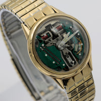 1966 Bulova Accutron Spaceview 10K Gold Men's Watch w/ Accutron Bracelet