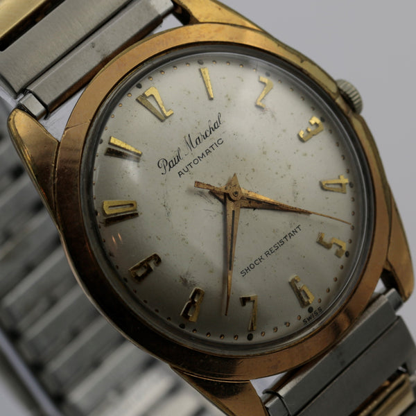 Marc Nicolet / Paul Marchal Men's Gold Automatic 17Jwl Swiss Made Watch w/ Bracelet