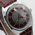 1960s Rotary Men's Swiss Made 21Jwl Automatic Silver Calendar Watch w/ Strap
