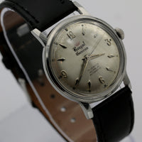 Royal Geneva Men's Swiss Made 17Jwl Automatic Silver Watch w/ Strap