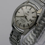1970s Roamer Superking Men's Swiss Made 17Jwl Silver Calendar Watch w/ Bracelet