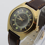 1970s Stellaris Men's 17Jwl Automatic Calendar Gold Watch w/ Strap