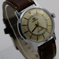 1960s Timestar Men's 17Jwl Silver Made in India Watch w/ Strap - Very Rare - NOS