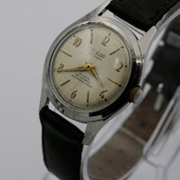 1960s Tilbury Men's Swiss Made 17Jwl Silver Watch w/ Strap