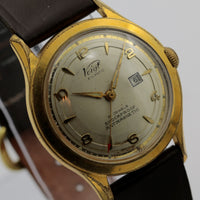 Voigt Atlantic Men's 21Jwl Made in Germany Gold Calendar Watch w/ Strap