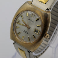 1970s Westclox Men's 17Jwl Gold Large Calendar Watch w/ Bracelet