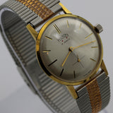 1940s Hilton Men's Gold 17Jwl Swiss Made Thin Watch w/ Bracelet
