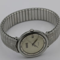 1960s Vulcain Centenary Automatic Calendar Swiss Made Silver Watch w/ Bracelet