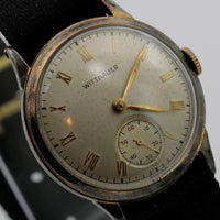 1930s Wittnauer Men's 10K Gold Swiss Made 15Jwl Watch w/ Strap