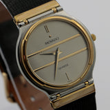 Movado Men's Swiss Made Gold Ultra Thin Quartz Watch w/ Strap