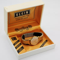 Elgin Men's Gold Swiss Made 17Jwl Fully Signed Watch w/ Original Box
