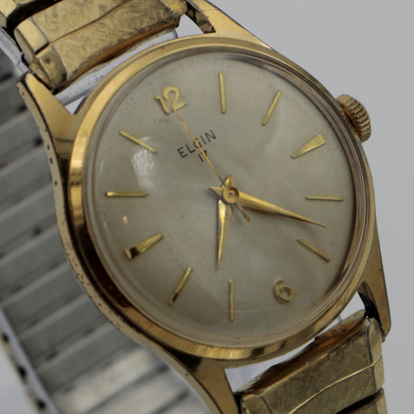 Elgin Men's Gold Swiss Made 17Jwl Watch w/  Original Box