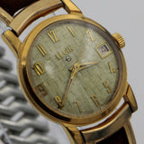 1960s Elgin Men's Gold Swiss Made 17Jwl Calendar Watch w/ Original Box