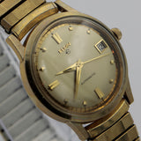 1950s Elgin Men's 10K Gold Swiss Made Automatic 17Jwl Watch w/ Original Box