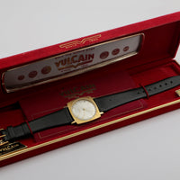 Vulcain  Men's Gold Swiss Made 17Jwl Ultra Thin Watch w/ Original Box
