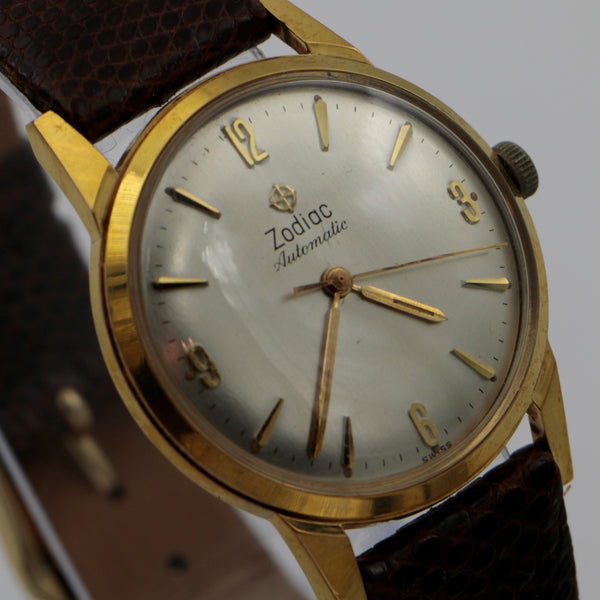 Zodiac Men's Gold Automatic Rotographic Watch w/ Original Box