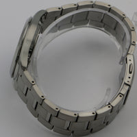 New Seiko Solar Men's Silver Dual Calendar Bracelet Watch w/ Original Box