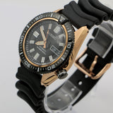 New Seiko Superior Men's Gold 23Jwl Automatic Diver 200m Watch w/ Original Box