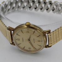 1950s Timex Men's Gold Automatic Interesting Large Dial Watch w/ Bracelet