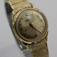Rare 1967 Bulova Accutron 10K Gold Men's Back Set Quadrant Dial Watch - Original Bracelet