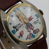 1970s Original Spiro Agnew Vice President Gold Watch by Dirty Time Company