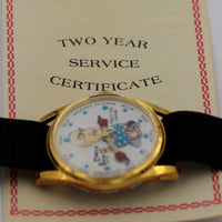 New 1970s Uncle Sam Election Gold  Watch w/ Warranty Card