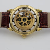 Stuhrling Men's Gold Automatic Skeletonized Case Watch w/ Strap