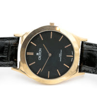 Croton Men's Quartz Rose Gold Extra Large Ultra Thin Watch w/ Strap
