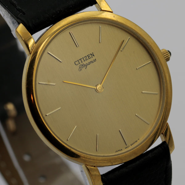 Citizen Elegance Men's Quartz Gold Ultra Thin Watch w/ Strap