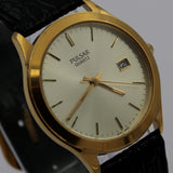 Seiko / Pulsar Men's Gold Quartz Unique Dial Calendar Watch w/ Strap