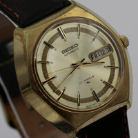 Seiko Men's Automatic 17Jwl Dual Calendar Gold Watch  w/ Strap
