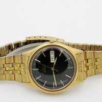 Seiko Men's Gold Quartz Dual Calendar Watch w/ Bracelet