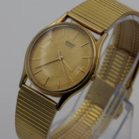 Seiko Men's Gold Quartz Watch w/ Bracelet