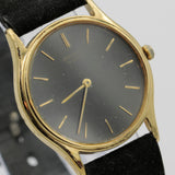 Seiko Men's Gold Quartz Thin Watch w/ Strap