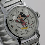 1970s Bradley Mickey Mouse Walt Disney Production Silver Watch w/ Bracelet