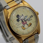 Seiko / Lorus Mickey Mouse Men's Gold Automatic 17Jwl Calendar Watch w/ Bracelet