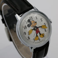 1960s Ingersol-Timex Mickey Mouse Men's Silver Watch w/ Strap
