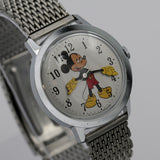 1960s Ingersol-Timex Mickey Mouse Silver Watch - Rare - Mint