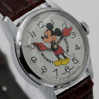 1970s Bradley Mickey Mouse Swiss Made Walt Disney Production Silver Watch