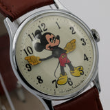1970 Ingersol-Timex Mickey Mouse Men's Silver Watch w/ Strap