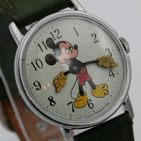 1960s Ingersol-Timex Mickey Mouse Silver Watch - Rare