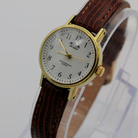 Timex / Acqua Ladies Gold Indiglo Quartz Watch w/ Lizard Strap