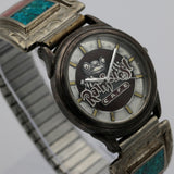Rainforest Men's Silver Quartz Watch w/ Native American Style Bracelet