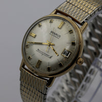 1970s Benrus Men's Electronic Technipower Swiss Made Calendar Gold Watch w/ Bracelet