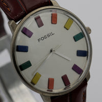 Fossil Men's Silver Large Hour Markers Quartz Watch w/ Strap