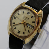 1978 Bulova Accutron 10K Gold Men's Dual Calendar Quartz Watch
