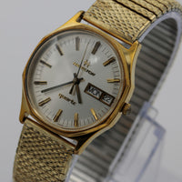 Hamilton Men's Gold Swiss Made Quartz Dual Calendar Watch w/ Bracelet