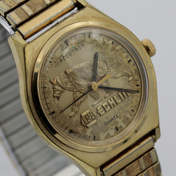 1978 Bulova Accutron 10K Gold Men's Quartz Watch w/ Bracelet